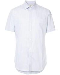 weißes Kurzarmhemd mit Karomuster von Kent & Curwen