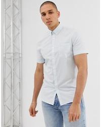 weißes Kurzarmhemd mit Karomuster von Lacoste