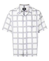 weißes Kurzarmhemd mit Karomuster von Stussy
