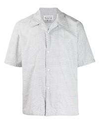 weißes Kurzarmhemd mit Paisley-Muster von Maison Margiela