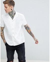 weißes Kurzarmhemd von ASOS DESIGN