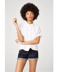 weißes Kurzarmhemd von Esprit