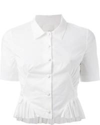 weißes Kurzarmhemd von Maison Margiela
