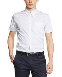 weißes Kurzarmhemd von Merc of London