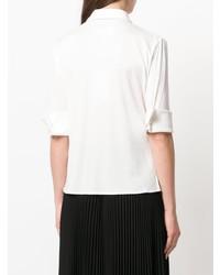 weißes Kurzarmhemd von MM6 MAISON MARGIELA