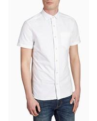 weißes Kurzarmhemd von next