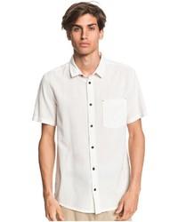 weißes Kurzarmhemd von Quiksilver
