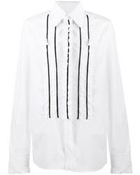 weißes Langarmhemd mit Rüschen von Dolce & Gabbana