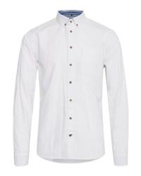 weißes Langarmhemd von BLEND