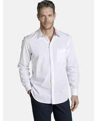 weißes Langarmhemd von Charles Colby