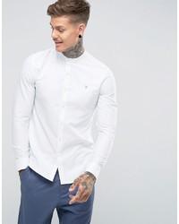 weißes Langarmhemd von Farah