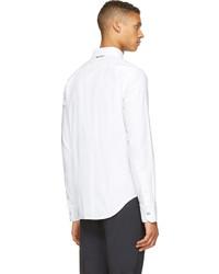 weißes Langarmhemd von Moncler