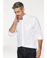 weißes Langarmhemd von Gant