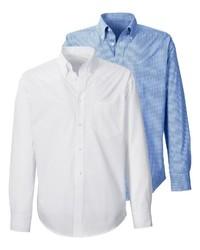 weißes Langarmhemd von Highmoor