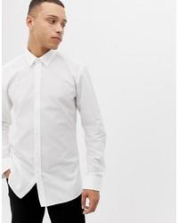 weißes Langarmhemd von Hugo