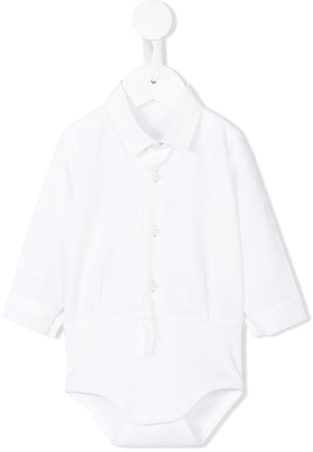 weißes Langarmhemd von Il Gufo