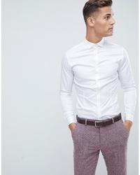 weißes Langarmhemd von Jack & Jones