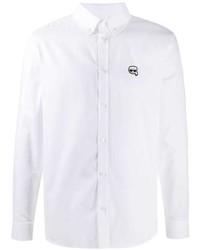 weißes Langarmhemd von Karl Lagerfeld