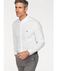 weißes Langarmhemd von Lacoste
