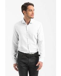 weißes Langarmhemd von Lufian