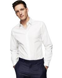 weißes Langarmhemd von Mango Man