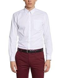 weißes Langarmhemd von Merc of London