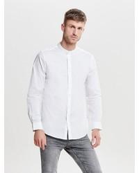 weißes Langarmhemd von ONLY & SONS