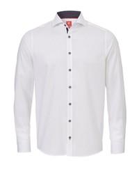 weißes Langarmhemd von Pure