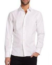 Weißes Langarmhemd von Salvatore Ferragamo