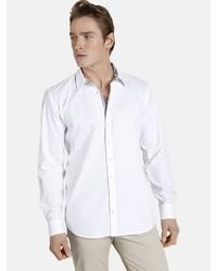 weißes Langarmhemd von SHIRTMASTER