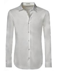 weißes Langarmhemd von Signum
