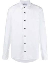 weißes Langarmhemd von Stone Island