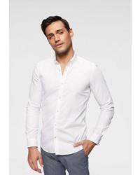 weißes Langarmhemd von Tom Tailor