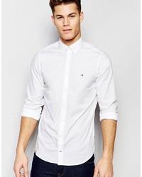weißes Langarmhemd von Tommy Hilfiger