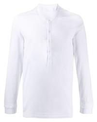 weißes Langarmshirt mit einer Knopfleiste von Neil Barrett