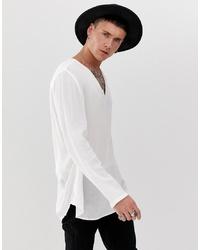weißes Langarmshirt von ASOS DESIGN