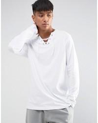 weißes Langarmshirt von Asos