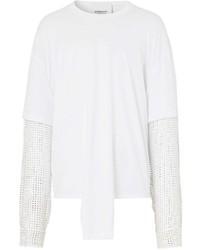 weißes Langarmshirt von Burberry