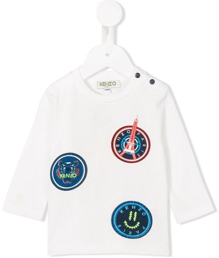 weißes Langarmshirt von Kenzo