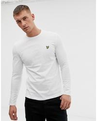 weißes Langarmshirt von Lyle & Scott