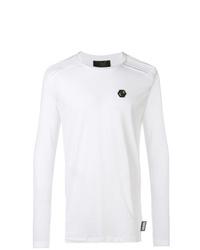 weißes Langarmshirt von Philipp Plein
