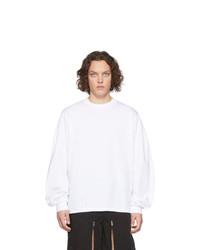 weißes Langarmshirt von Random Identities