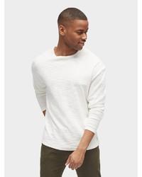 weißes Langarmshirt von Tom Tailor Denim