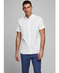 weißes Leinen Kurzarmhemd von Jack & Jones