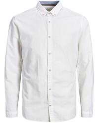 weißes Leinen Langarmhemd von Jack & Jones