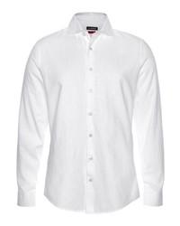 weißes Leinen Langarmhemd von Roy Robson