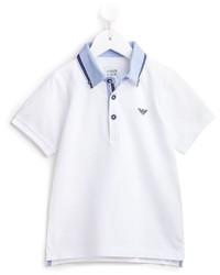 weißes Polohemd von Armani Junior