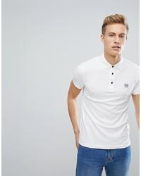 weißes Polohemd von BOSS