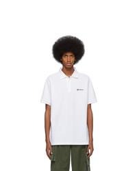 weißes Polohemd von Burberry