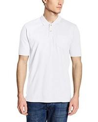 weißes Polohemd von CALAMAR MENSWEAR